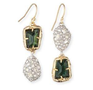 Alexis Bittar mix match dangle earrings